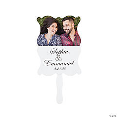 Custom Photo Traditional Script Hand Fans
