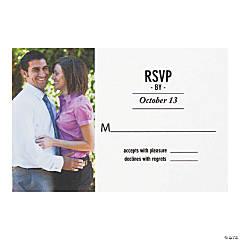 Custom Photo Wedding Response Cards
