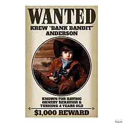 Custom Photo Western Wanted Sign