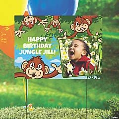Custom Photo Zoo Adventure Yard Sign