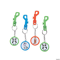 Cute Animal Backpack Clip Keychains