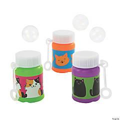 Cute Cat Mini Bubble Bottles - 24 Pc.