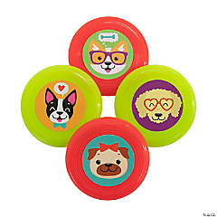 Cute Dog Party Mini Flying Discs