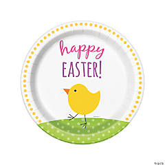 Cute Easter Dinner Paper Plates - 8 Ct.