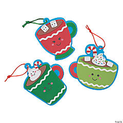 Cute Hot Cocoa Ornament Craft Kit