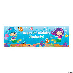 Cute Mermaid Custom Banner - Small