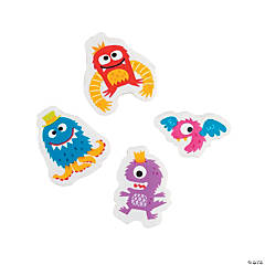 Cute Monster Erasers - 24 Pc.