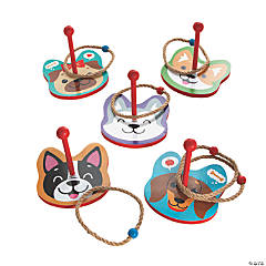 Cute Puppy Dog Ring Toss Game