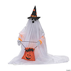 Cute Standing Animated Ghost Halloween Decoration