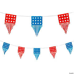 Cutout Patriotic Banner with Fringe