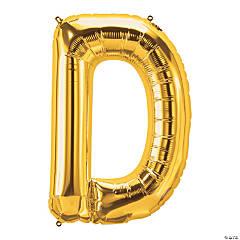 D Gold Letter Mylar Balloon