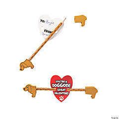 Dachsund Pencils with Valentine's Day Cards