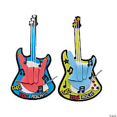 Dad You Rock Handprint Guitar Craft Kit