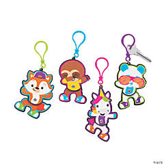 Dancing Animals Jointed Backpack Clip Keychains