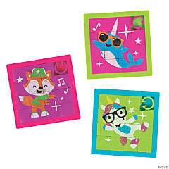 Dancing Animals Slide Puzzles