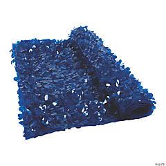 Dark Blue Floral Sheeting Backdrop