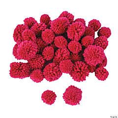 Dark Pink Yarn Pom-Poms