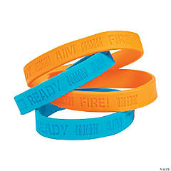 Dart Battle Party Rubber Bracelets