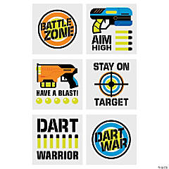 Dart Battle Party Temporary Tattoos