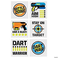 Dart Battle Party Temporary Tattoos
