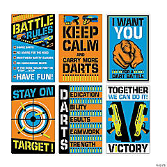 Dart Battle Party Wall Cutouts