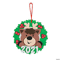 Dated Reindeer Ornament Craft Kit