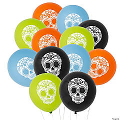 "Day of the Dead 11"" Latex Balloons"