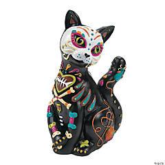 Day of the Dead Cat Halloween Decoration