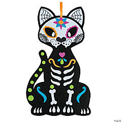 Day of the Dead Cat Wall Decoration