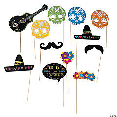 Day of the Dead Photo Stick Props- 12 Pc.