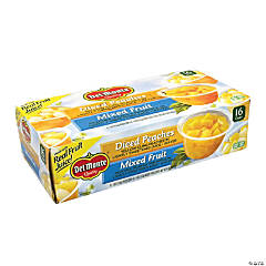 DEL MONTE Diced Peaches & Mixed Fruit Cups, 4 oz, 16 Count