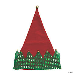 Deluxe Elf Hats with Jingle Bells - 12 Pc.