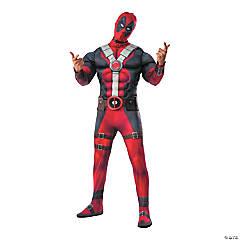 Deluxe Muscle Chest Deadpool Halloween Costume for Men