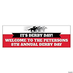 Derby Party Custom Banner - Small