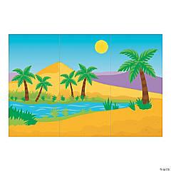 Desert Oasis Backdrop Banner
