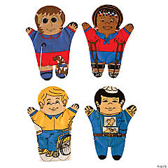 Dexter Educational Toys™ Special Needs Hand Puppets, Set of 4