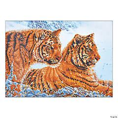 Diamond Dotz-Tigers in the Snow