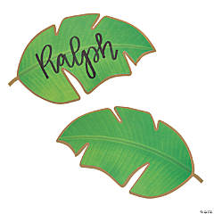 Die-Cut Palm Leaf Place Cards