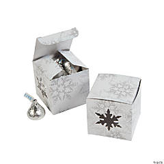Die Cut Snowflake Gift Boxes - 12 Pc.
