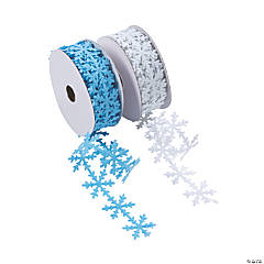 Die-Cut Snowflake Ribbon Rolls