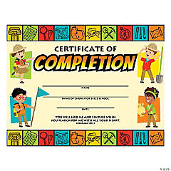 Dig VBS Certificates of Completion