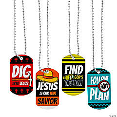 Dig VBS Dog Tag Necklaces