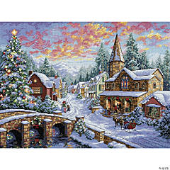 Dimensions Counted Cross Stitch Kit - Holiday Village