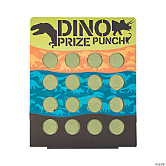 Dino Dig 16-Hole Prize Punch Game