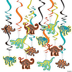 Dino Dig Hanging Swirl Decorations - 12 Pc.