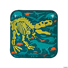 Dino Dig Square Paper Dinner Plates - 8 Ct.