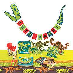 Dino Dig Tableware Kit for 16 Guests