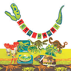 Dino Dig Tableware Kit for 24 Guests