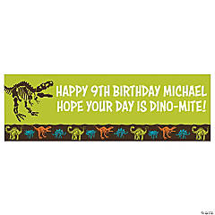 Dino-Mite Party Custom Banner - Small