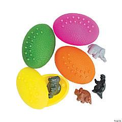 Dinosaur-Filled Plastic Eggs - 72 Pc.
